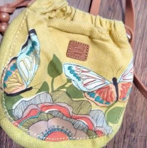 Fossil butterfly purse